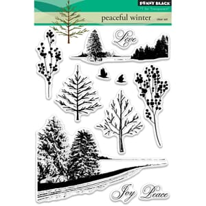 Penny Black: Peaceful Winter - Clear Stamps, 5x7 inch