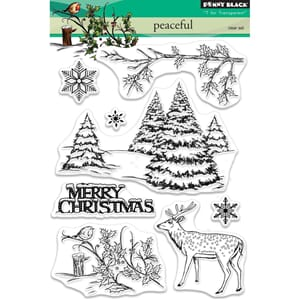 Penny Black: Peaceful Clear Stamps