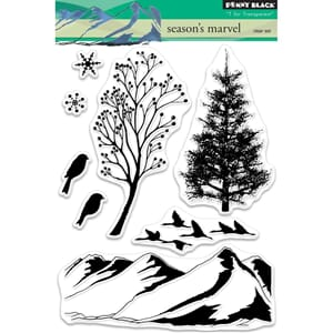 Penny Black: Season's Marvel Clear Stamps