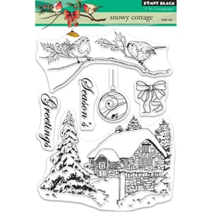 Penny Black: Snowy Cottage Clear Stamps