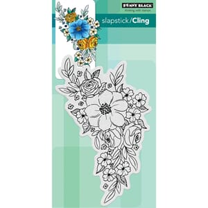 Penny Black: Flower Cascade Cling Stamps