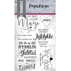 Papirdesign: Julens magi clear stamps