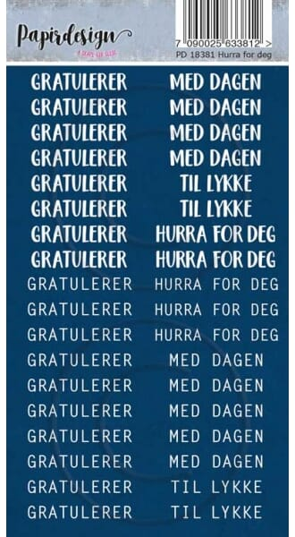 Papirdesign: Hurra for deg - Klistremerker