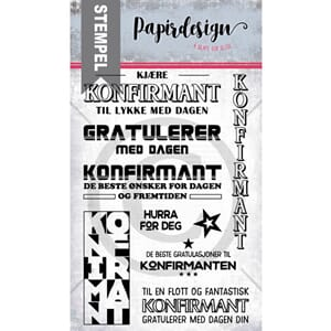 Papirdesign: Konfirmanten Clear Stamps, 10x15 cm