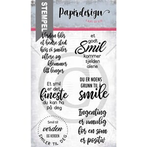 Papirdesign: Smil Clear Stamps, 10x15 cm