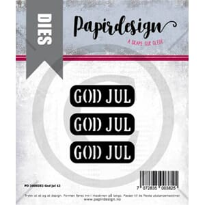 Papirdesign: God jul 12 dies