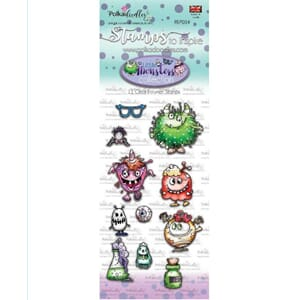 Polkadoodles: Little Monsters Clear Stamps Funky