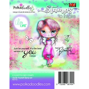 Polkadoodles: Ula Be Yourself Clear Stamps
