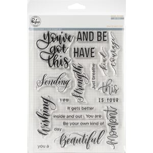 Pinkfresh Studio: You've Got This Clear Stamp Set, 6x8 inch