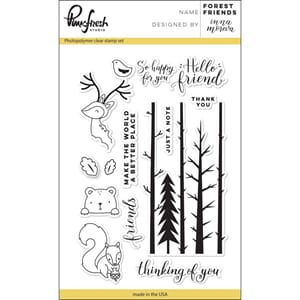 Pinkfresh Studio: Forest Friends Clear Stamp Set, 4x6 inch