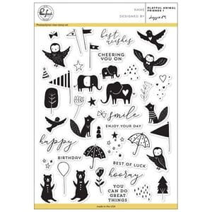 Pinkfresh Studio: Playful Animal Friends 1 Clear Stamp Set