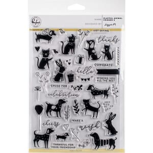 Pinkfresh Studio: Playful Animal Friends 2 Clear Stamp Set