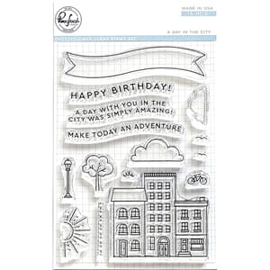 Pinkfresh Studio: A Day in the City Clear Stamp, 4x6 inch