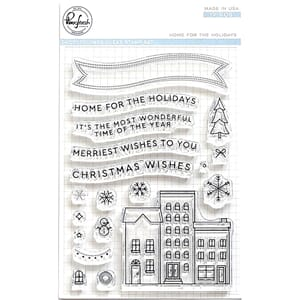Pinkfresh Studio:  Home For The Holidays Clear Stamp Set, 4