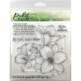 Picket Fence Studios: Lily Bouquet 6x6 inch Stamp Set