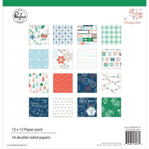 Pinkfresh Studio: Holiday Vibes Paper Pack, 12x12, 16/Pkg