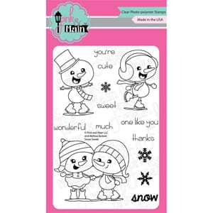 Pink & Main: Snow Sweet Clear Stamps, 4x6 inch