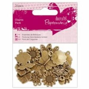 Papermania: Charm Pack Flowers & Butterflies, 21/Pkg