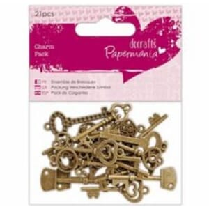 Papermania: Charm Pack Keys, 21/Pkg