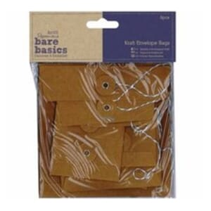Papermania - Kraft Envelope Bags Rectangular Brown, 6/Pkg