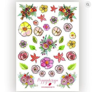 Poppydesign - Blomstring Stickers