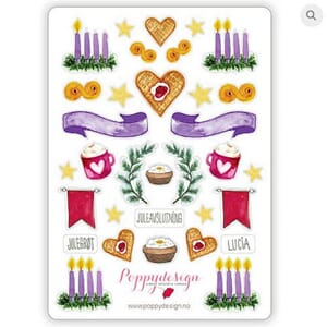 Poppydesign - Advent Stickers