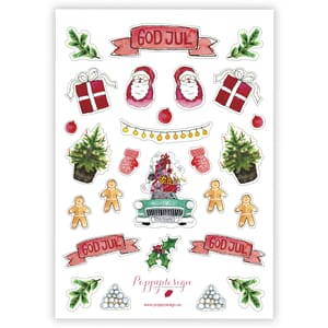 Poppydesign - God Jul Stickers