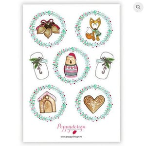 Poppydesign - Julestemning Stickers