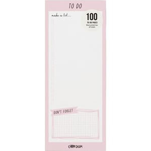 Carpe Diem: Ballerina Pink Magnetic To Do List