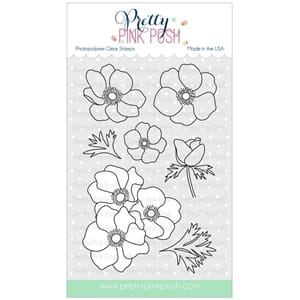Pretty Pink Posh: Anemones stamp set