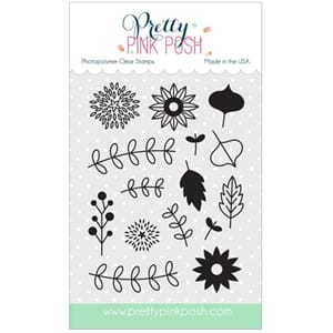 Pretty Pink Posh: Autumn Blooms stamp set