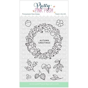 Pretty Pink Posh: Autumn Wreath stamp set