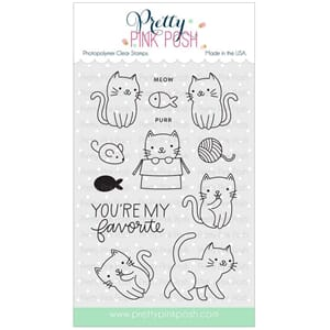 Pretty Pink Posh: Cuddly Cats stamp set