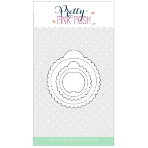 Pretty Pink Posh: Scallop Circle Tags