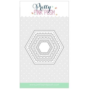 Pretty Pink Posh: Scallop Hexagons