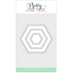 Pretty Pink Posh: Stitched Hexagons