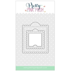 Pretty Pink Posh: Scallop Square Tags