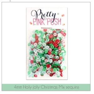 Pretty Pink Posh: 4mm Holly Jolly Christmas Sequins Mix