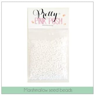 Pretty Pink Posh: Marshmallow Seed Beads