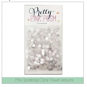 Pretty Pink Posh: Mini Sparkling Clear Flower Sequins