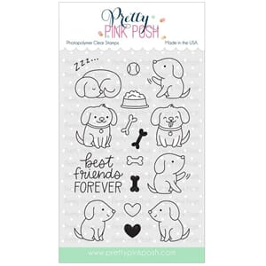 Pretty Pink Posh: Playful Puppies stamp set