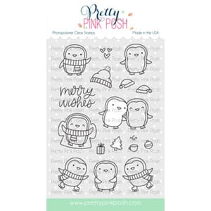 Pretty Pink Posh: Penguin Pals stamp set