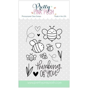 Pretty Pink Posh: Bee Friends stamp set, 14/Pkg