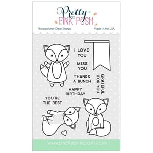 Pretty Pink Posh: Fox friends stamp set
