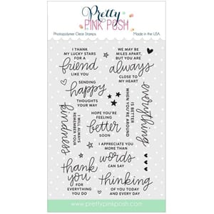 Pretty Pink Posh: Thoughtful Greetings stamp set