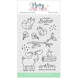 Pretty Pink Posh: Winter Woodland stamp set