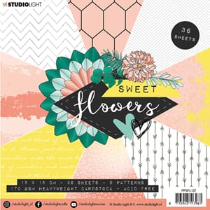 Studio Light: Sweet Flowers 137 Paper Pad, 6x6 inch, 36/Pkg
