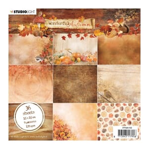 Studio Light: Wonderful Autumn Paper Pad, 6x6 inch, 36/Pkg