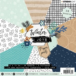 Studio Light: Winter Joys 127 Paper Pad, 6x6 inch, 36/Pkg