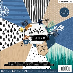 Studio Light: Winter Joys 128 Paper Pad, 6x6 inch, 36/Pkg